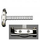 Großhandel Zubehör & Ersatzteile: Gala-Clips, Länge 5cm, transparent, 50 Stück